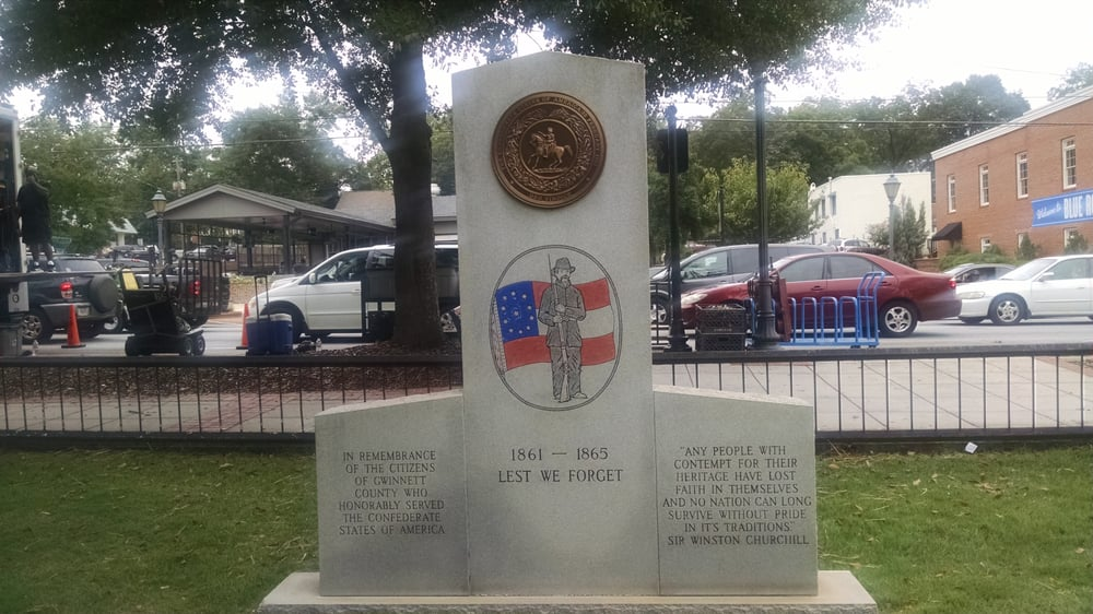 Photo of Lawrenceville Town Square - Lawrenceville, GA, United States. Confederate monument on