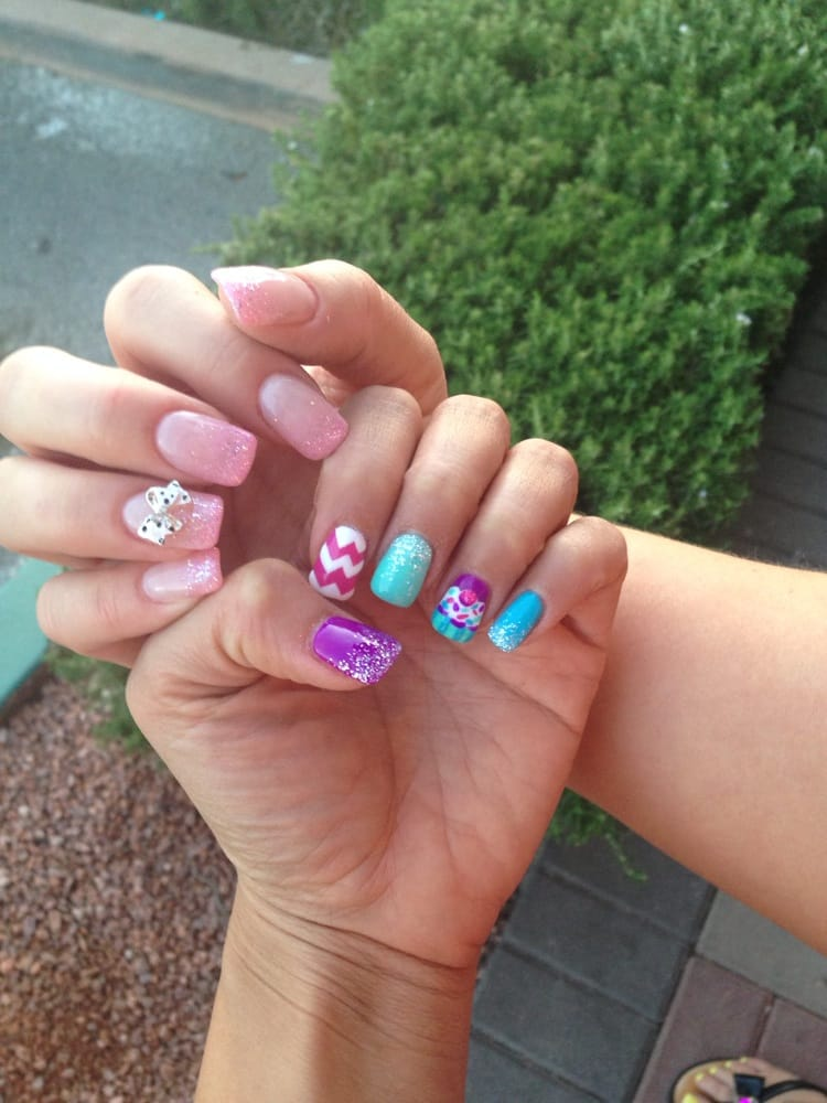 My nails and my bestie nails design done by lily - Yelp