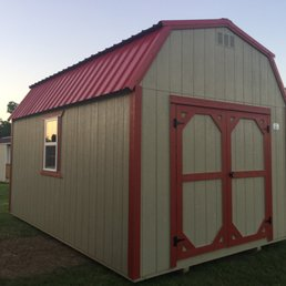 Photo Of Cowgirl Corner   Pryor, OK, United States. 10x16 Barn Bright Red