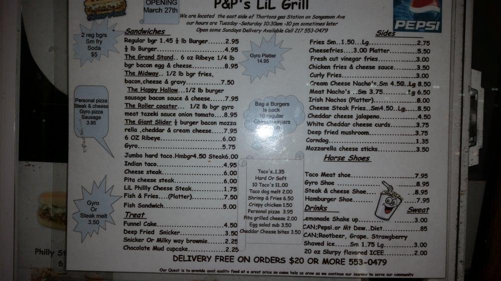 P&P's Lil Grill: 2208 N Peoria Rd, Springfield, IL