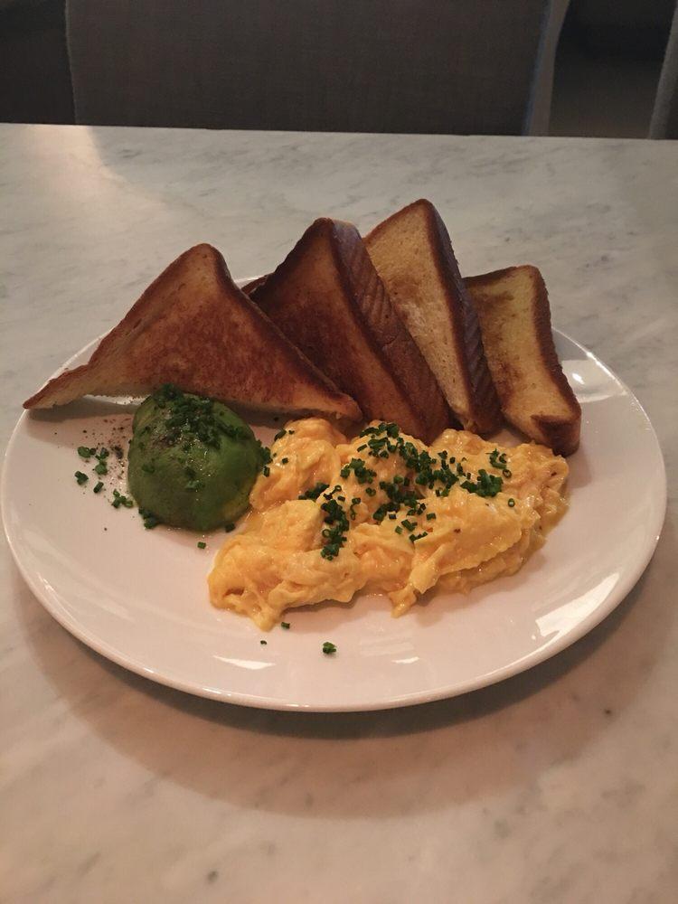 RH Scramble -Farm Eggs, Creme Fraiche, Avocado, Chives ...