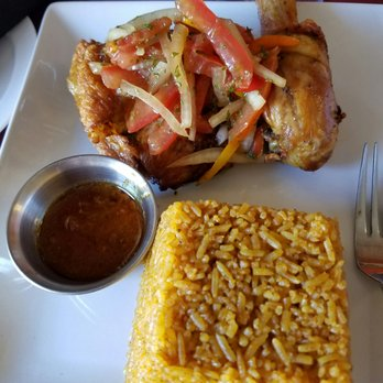 Photo Of Drelyse African Restaurant Columbus Oh United States Jollof Rice With