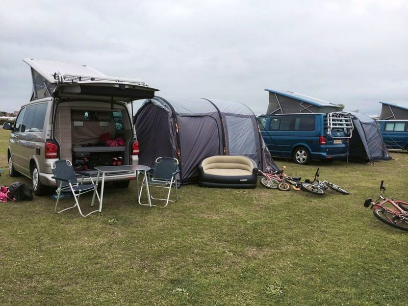 VW California Hire Camper Van on holiday with our super