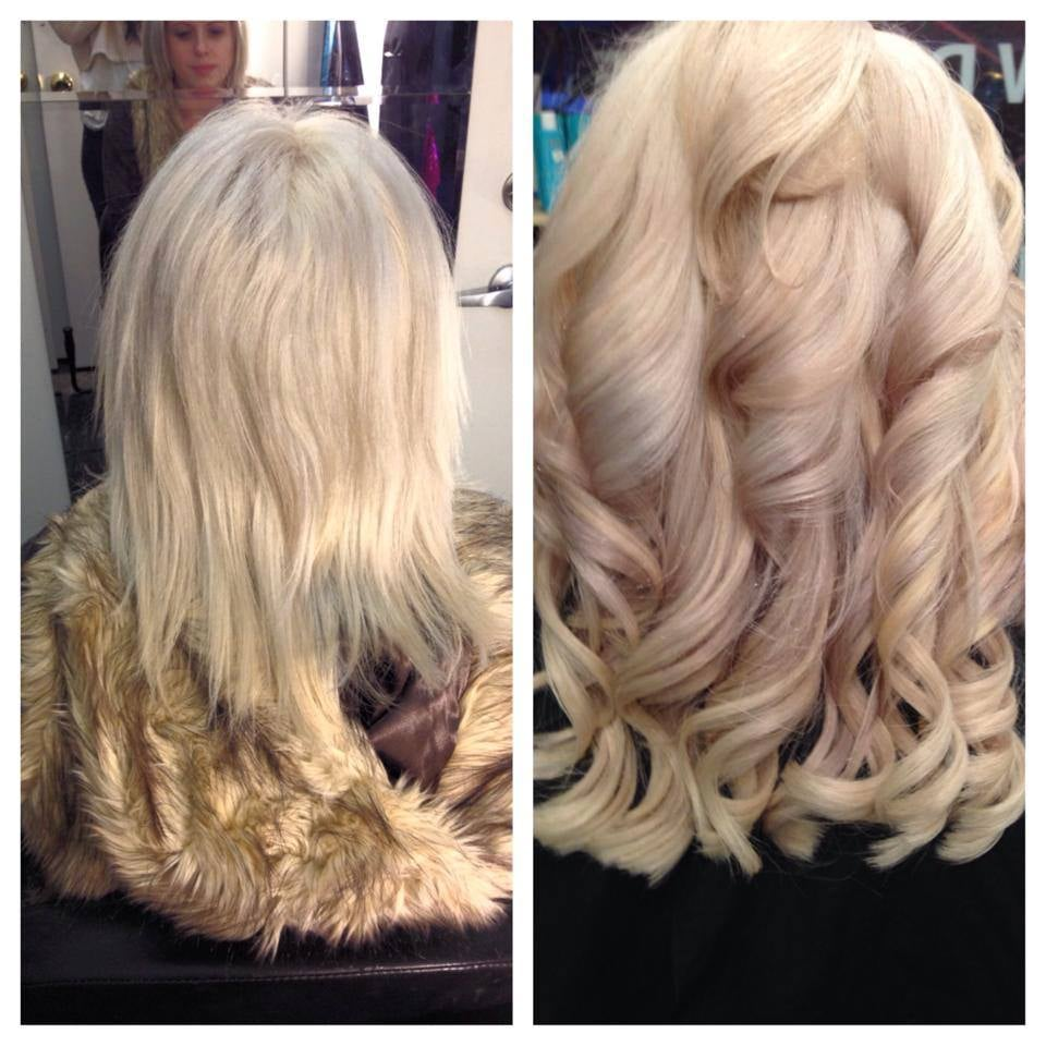 Before and after 12 inch fusion hair extensions yelp photo of belle moi hair extensions chicago il united states before pmusecretfo Choice Image