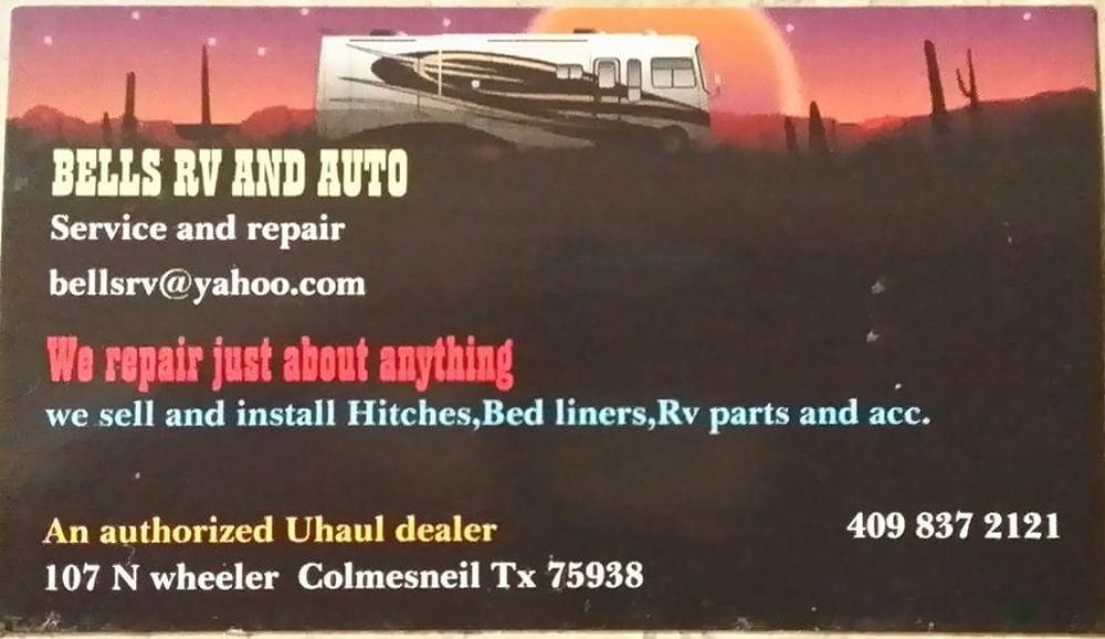 Bell's RV & Auto Repair: 107 N Wheeler Rd, Colmesneil, TX