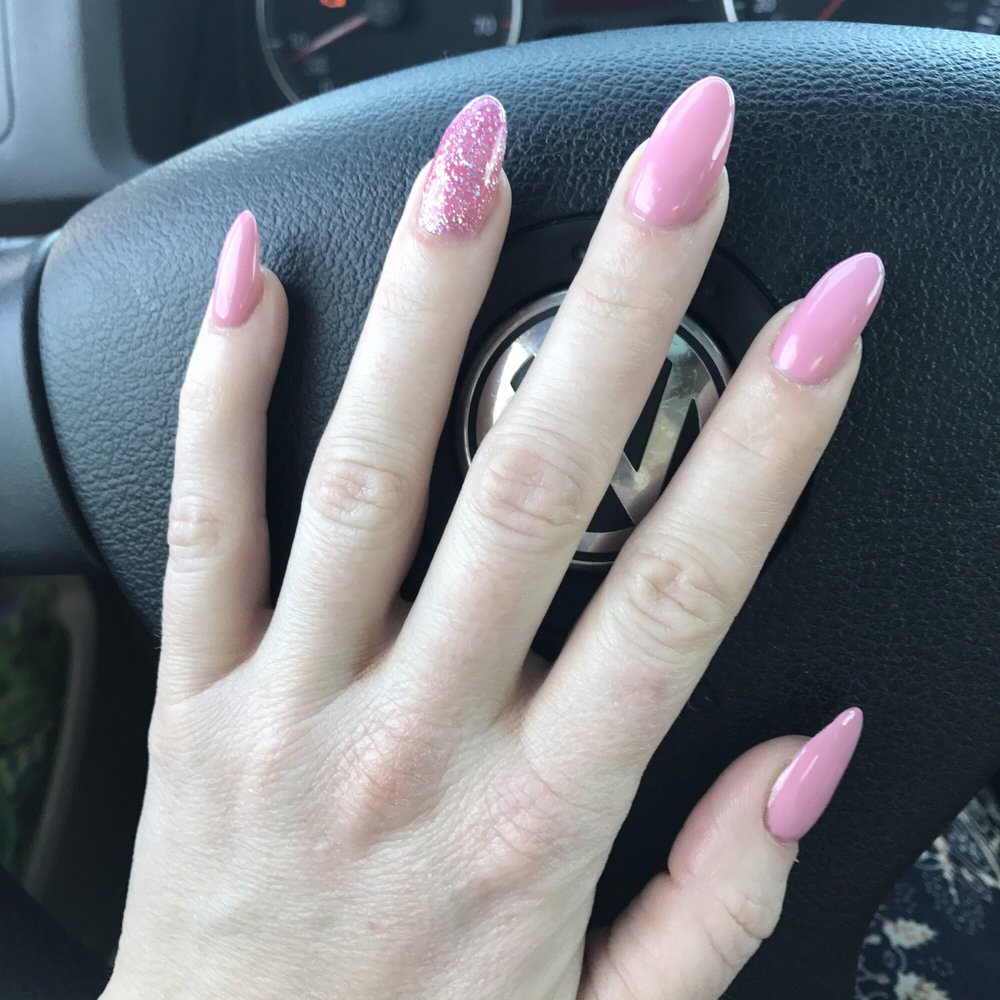 Fabulous nails for a fill. Color rock n rose - Yelp
