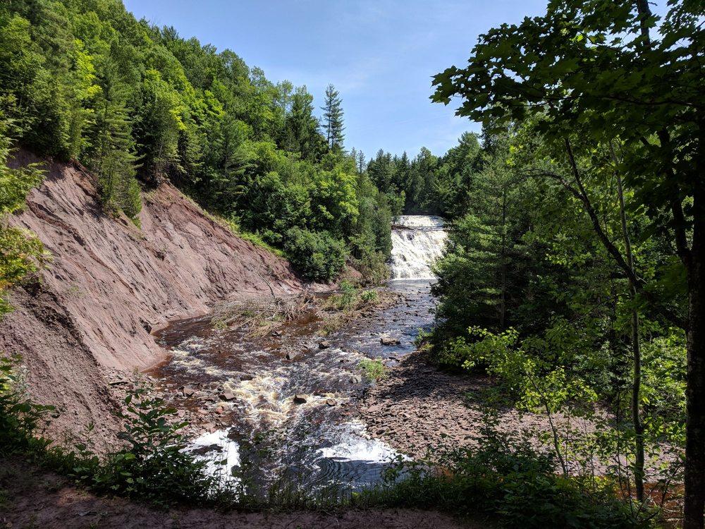 Potato River Falls: Falls Rd, Gurney, WI