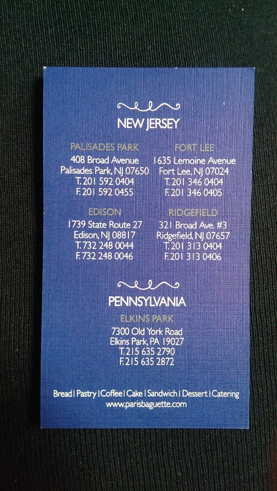 Business cardlocations yelp photo of paris baguette flushing ny united states business card locations reheart Images