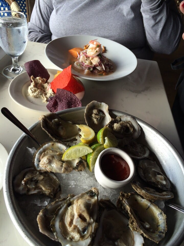 Oysters on the half and seafood ceviche yelp for Garcia s seafood grille fish market miami fl