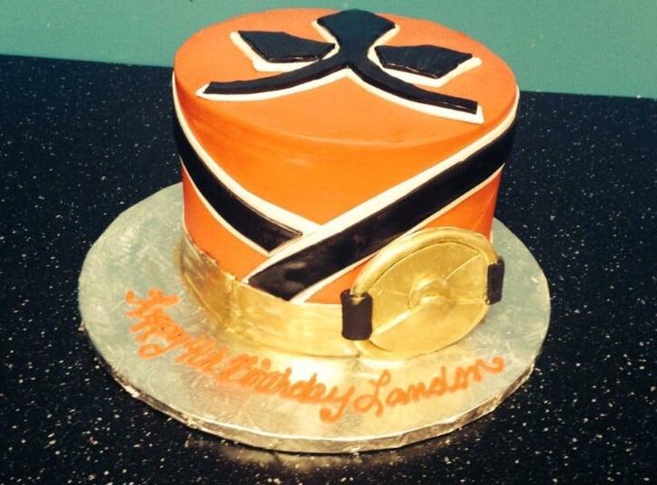 Power Ranger Theme Birthday Cake For 4 Year Old