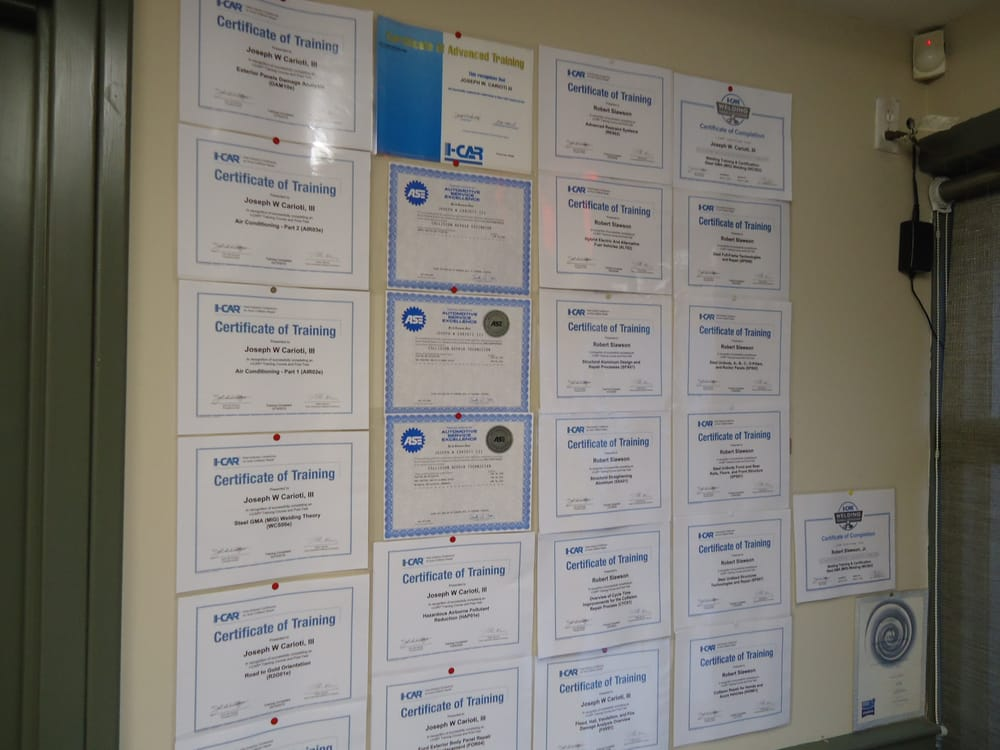 Icar And Ase And Standox Certifications Yelp