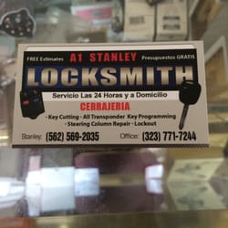 A1 stanley locksmith keys locksmiths 9421 alondra blvd photo of a1 stanley locksmith bellflower ca united states business card colourmoves