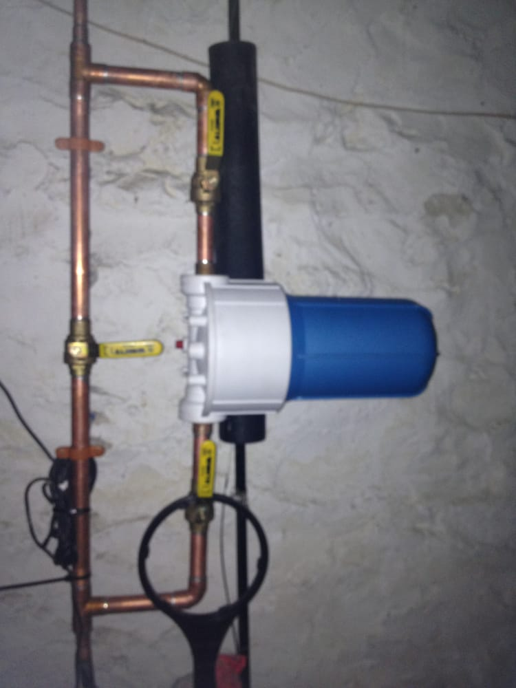 Whole house water filter with bypass for a plumbing for Water pipes for home