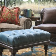 Updated Tuscan Style Photo Of Plaza Interiors   Redding, CA, United States.  Red And Teal Furniture