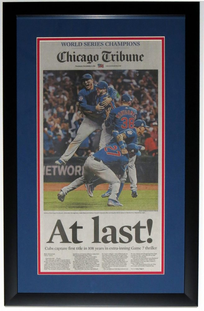 2016 Chicago Cubs World Series Chicago Tribune - Professionally ...