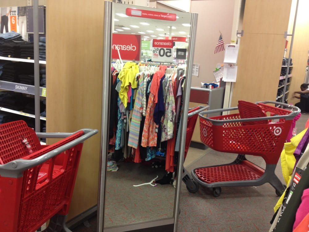 ef461747583 Carts constantly block one of only two mirrors the entire women s ...