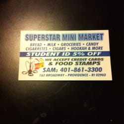 Superstar mini market convenience stores 163 broadway federal photo of superstar mini market providence ri united states business card reheart Image collections