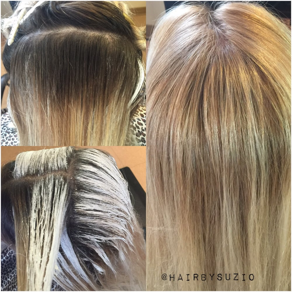 Processing Picture Of A Balayage Root Touch Up Yelp