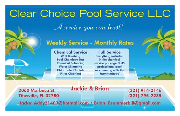 Clear Choice Pool Service Llc Closed Pool Cleaners