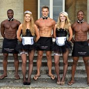 Hy Hens Enjoying A Photo Of Butlers In The Buff Bristol United Kingdom