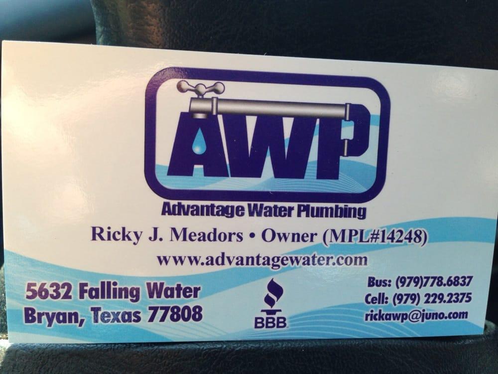 Advantage Water Plumbing - Plumbing - 5632 Falling Water, Bryan ...