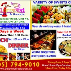 Photo Of Bollywood Restaurant And Sweets Brampton On Canada