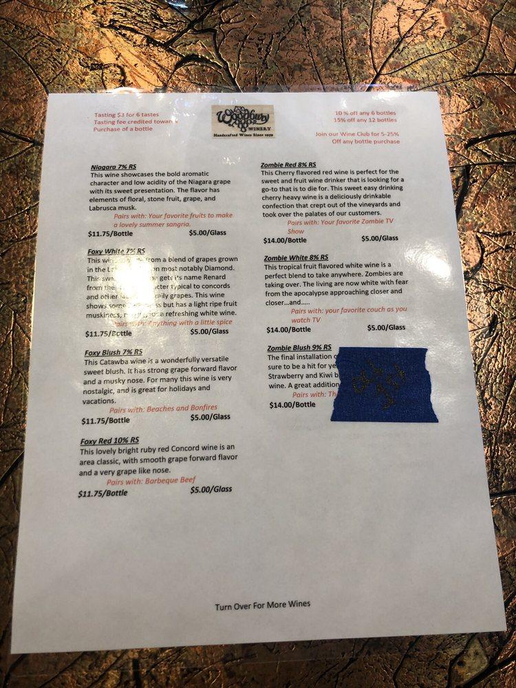 Woodbury Winery & Vineyards: 3215 S Roberts Rd, Fredonia, NY