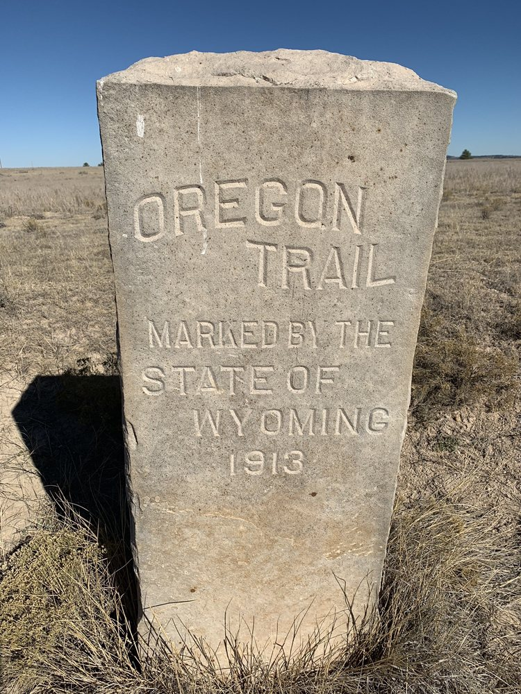 Oregon Trail Historic Marker: 305 Wendover Rd, Guernsey, WY