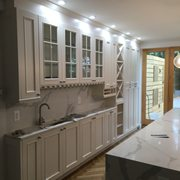 Rustic Look Photo Of Icon Kitchen Design   Kew Gardens, NY, United States.  White Custom