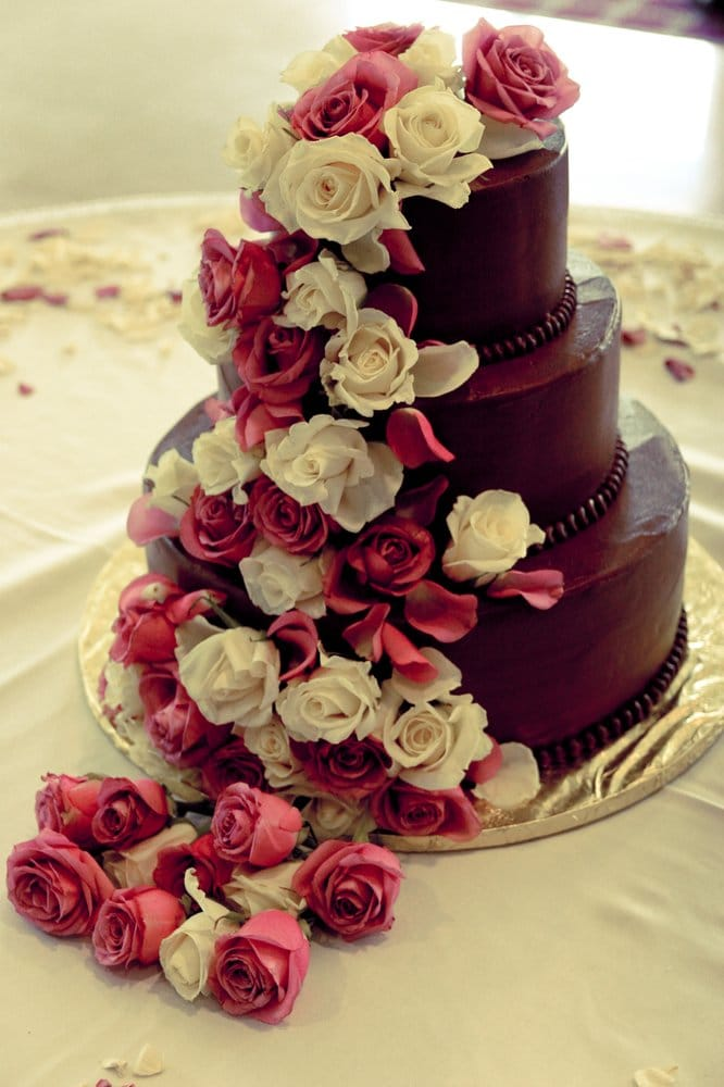 Our Wedding Cake Chocolate Buttercream With Vanilla Cake Inside And