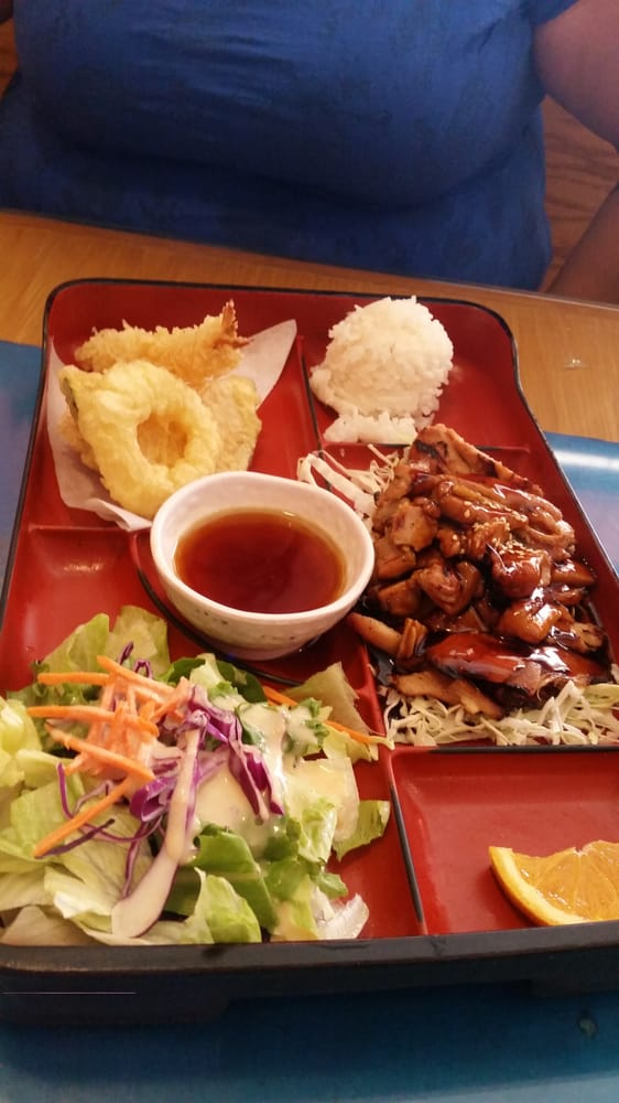bento lunch box special teriyaki chicken tempura 9 9 15 yelp. Black Bedroom Furniture Sets. Home Design Ideas