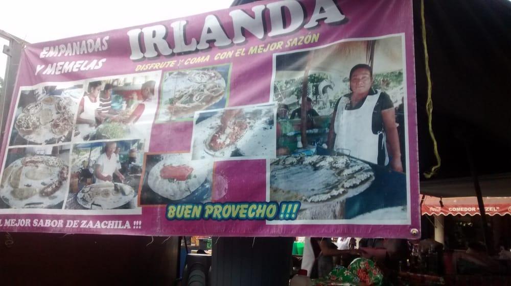 Empanadas y memelas Irlanda: Parque municipal Zaachila, Oaxaca, OAX