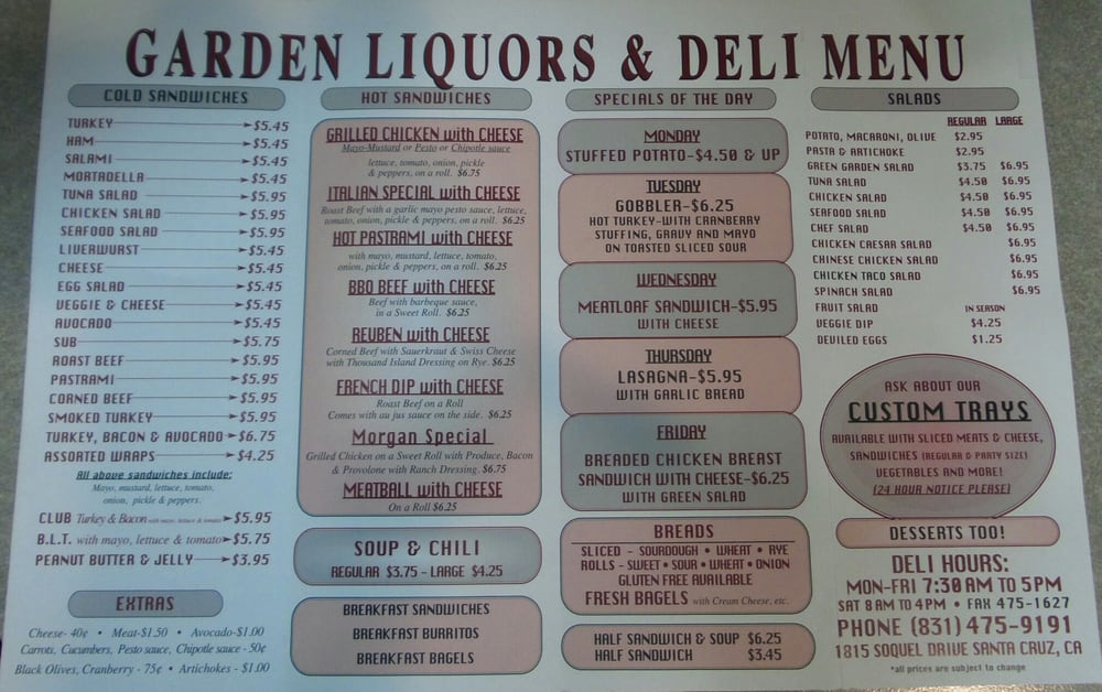 garden liquors deli 33 photos 170 reviews beer wine spirits 1815 soquel dr santa