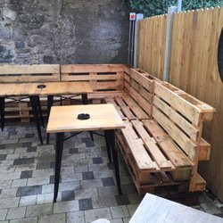 photo of sullivans brewing company kilkenny republic of ireland love the pallet furniture