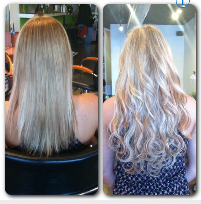 Before And After Microbead Weft Hair Extensions No Glue Braids