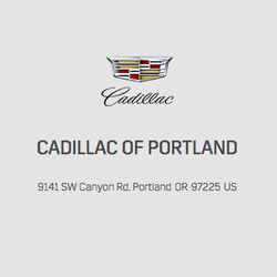Cadillac Of Portland >> Cadillac Of Portland Car Dealers 9141 Sw Canyon Rd Southwest