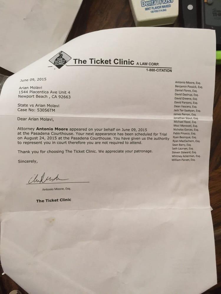 Ticket Clinic Long Beach Ca