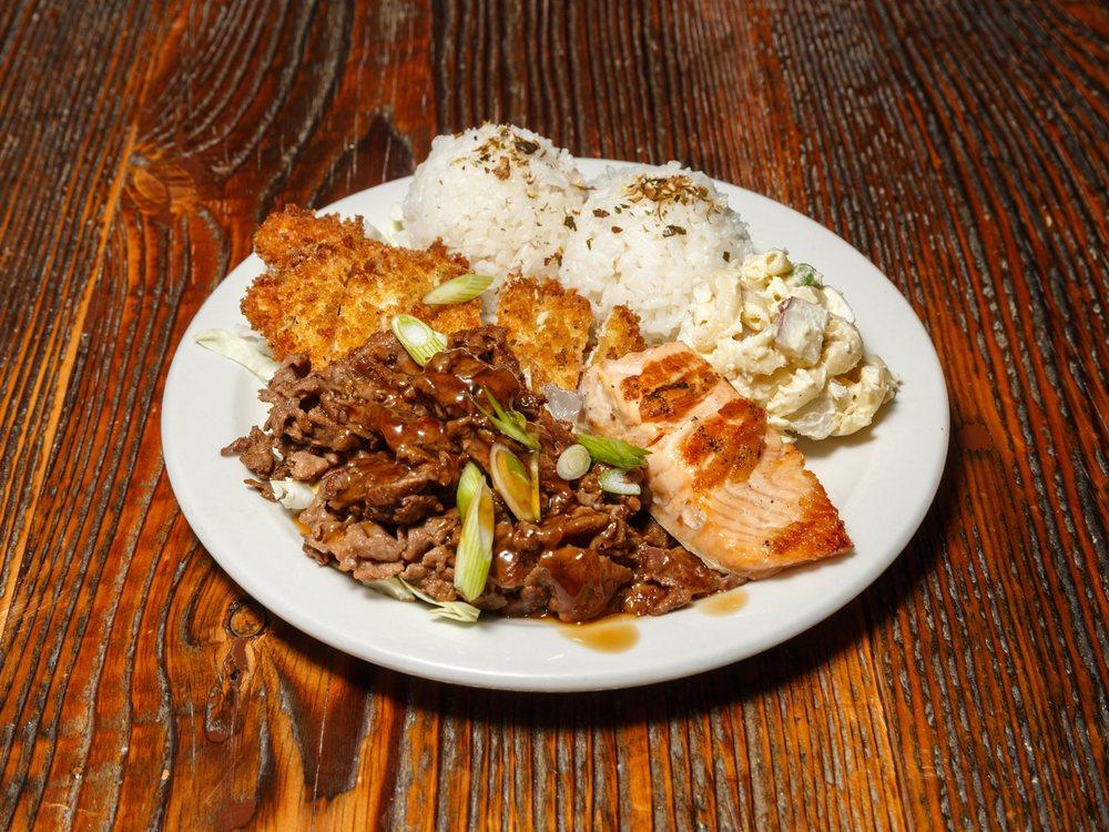Food from Hapa Hawaiian Grill