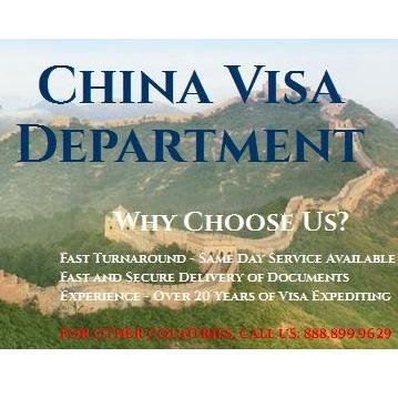 China Visa Department: 501 N Magnolia Ave, Orlando, FL