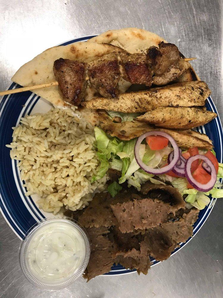 Food from Greek Gyros Yorkville
