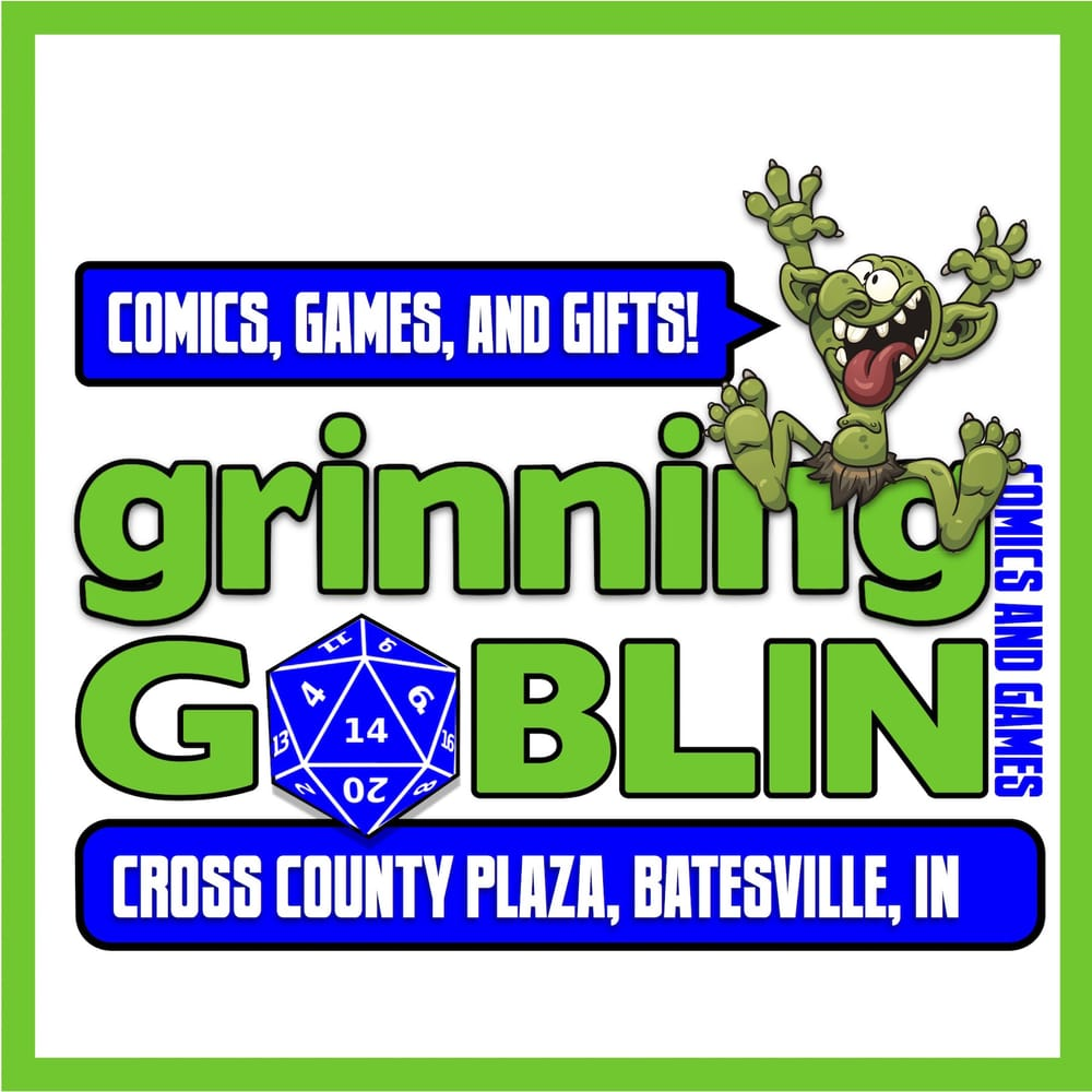 Grinning Goblin Comics And Games: 124 Cross County Plz, Batesville, IN