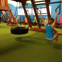 Photo Of Backyard Adventures   Urbandale, IA, United States. Playground  Equipment Has Rock