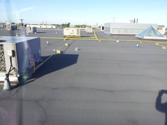Photo Of Sky Total Roofing   Vaughan, ON, Canada. Flat Roof Project Applying