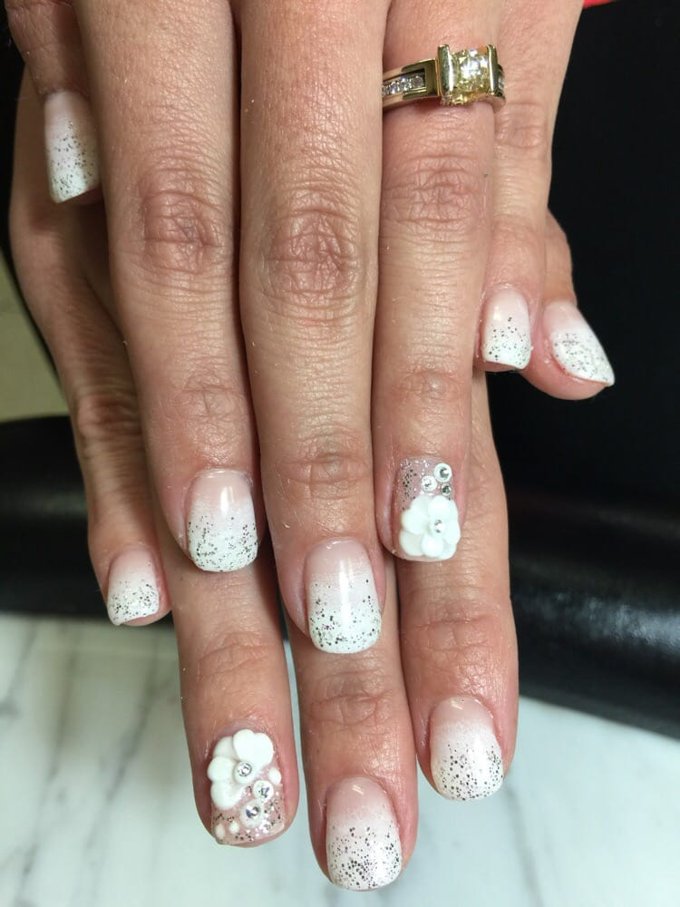 Wedding nail trial by penny gradual french ombr with silver photo of ocean nails spa boca raton fl united states wedding nail prinsesfo Choice Image