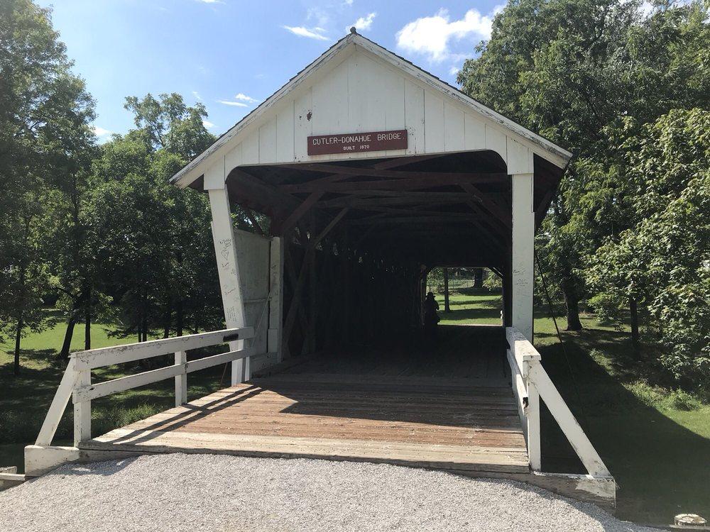 Cutler-Donahoe Covered Bridge: 803 E Hwy 92, Winterset, IA