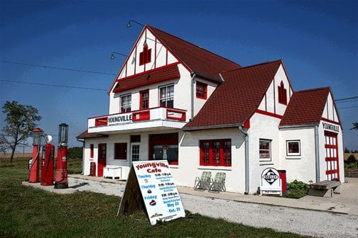 Youngville Café Welcome Center & Museum: 2409 73rd St, Watkins, IA