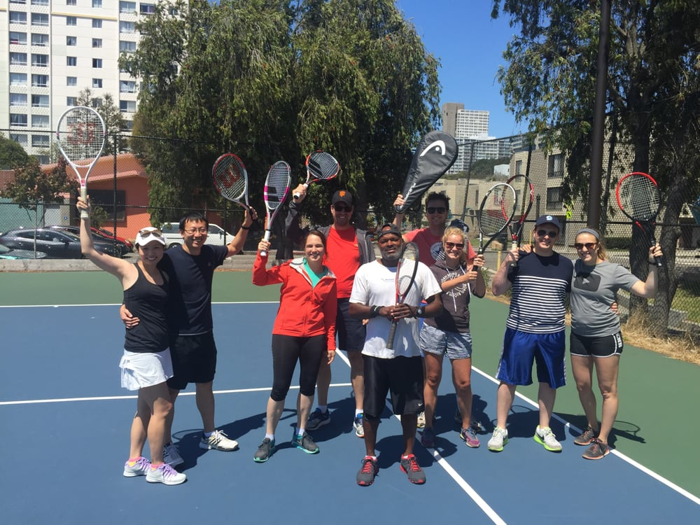 Photo of Tennis Lessons By Mcclain - San Francisco, CA, United States. coach McClain and his happy clients