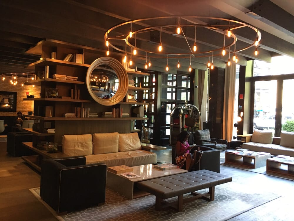 The thompson chico lobby yelp for Hotel decor chicago