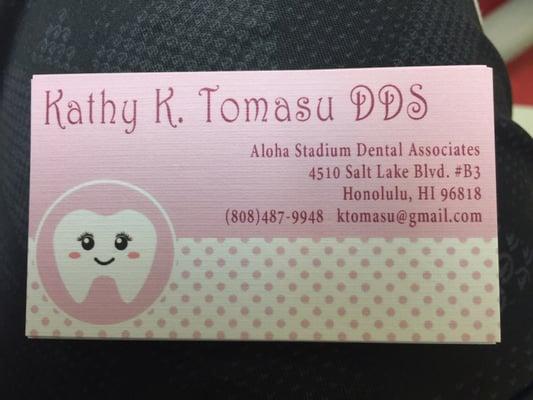 Kathy K Tomasu, DDS 4510 Salt Lake Blvd Ste B3 Honolulu, HI Dentists