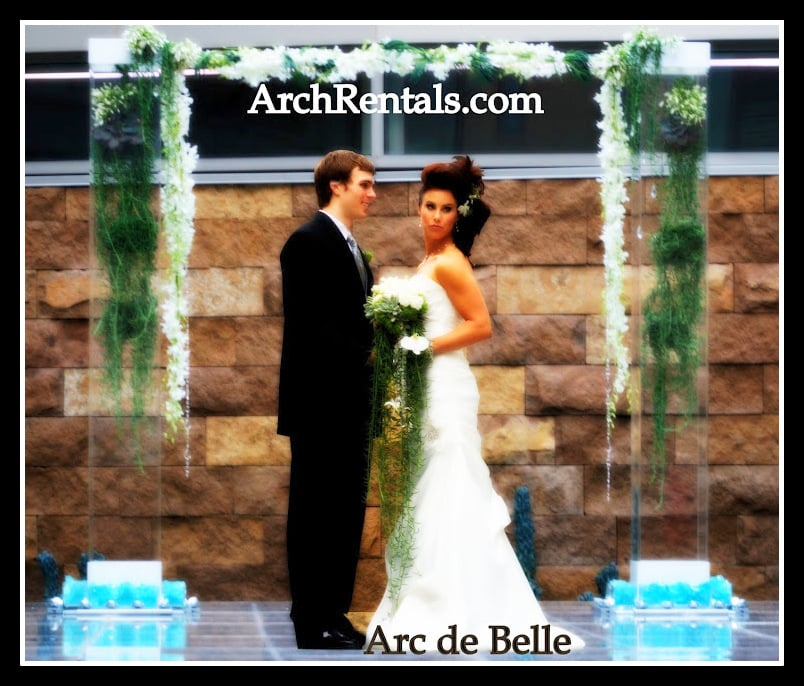 Wedding Altar Columns: Acrylic Wedding Arch ,Altar And Column Rentals, In Los